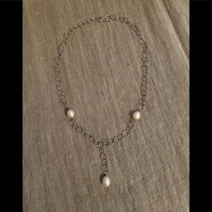 Jewelry - Sterling and freshwater pearl necklace; bolero